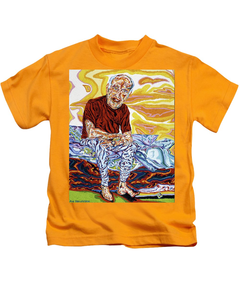 Full Body Kids T-Shirt featuring the painting Alfred's Last Days by Robert SORENSEN