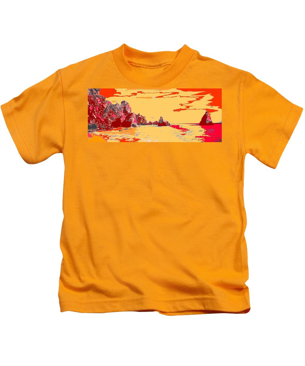 Mediterranean Kids T-Shirt featuring the photograph Algarve Sunrise by Ian MacDonald