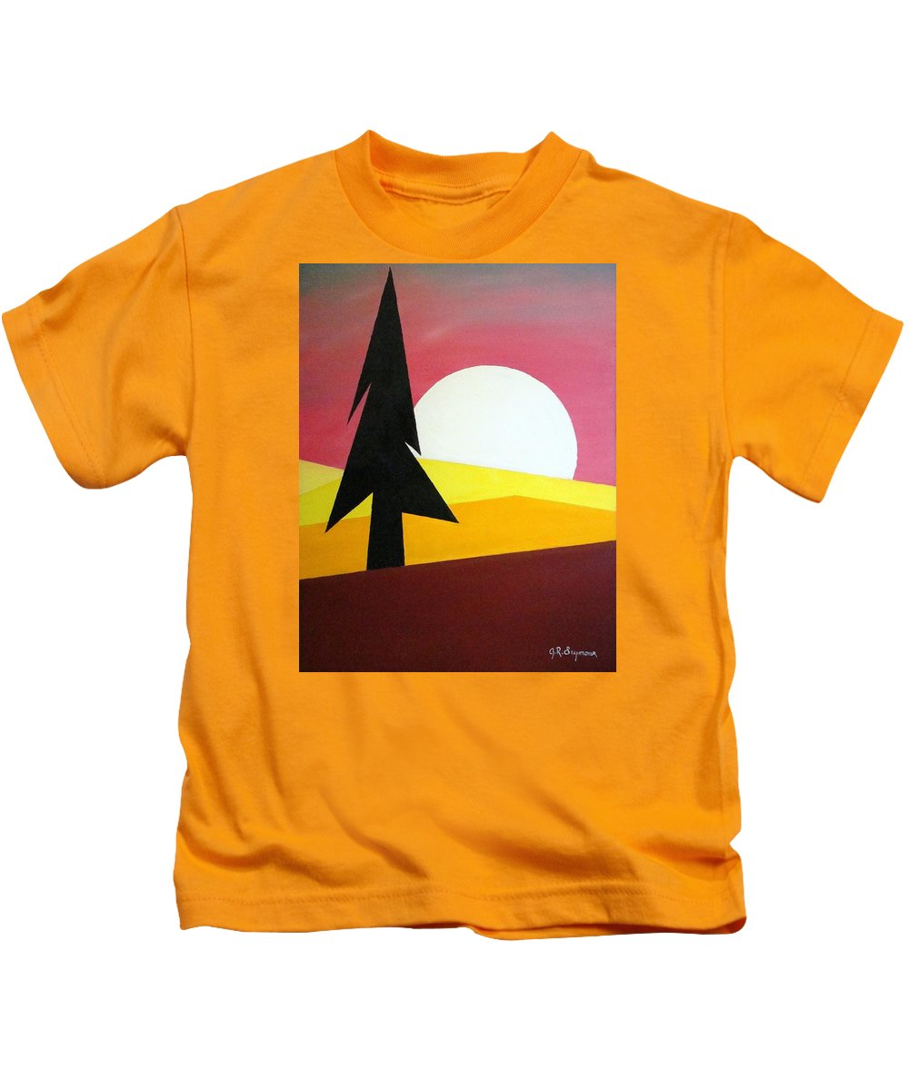 Phases Of The Moon Kids T-Shirt featuring the painting Bad Moon Rising by J R Seymour