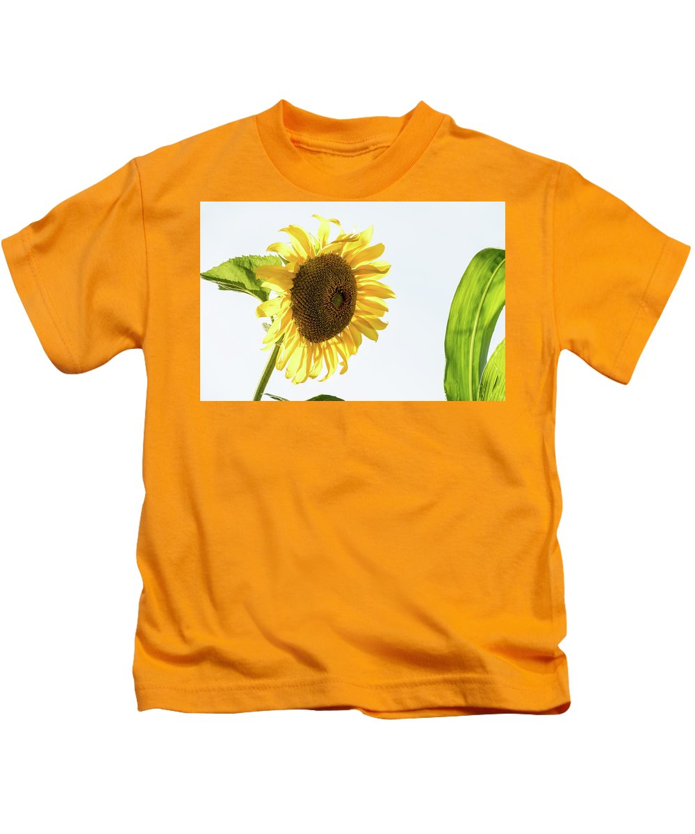 Being Neighborly Kids T-Shirt featuring the photograph Being Neighborly - by Julie Weber