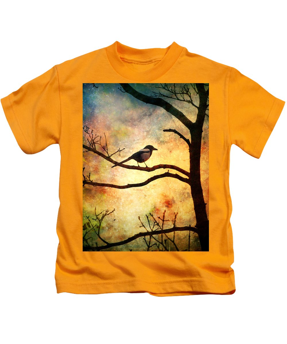 Bird Kids T-Shirt featuring the photograph Believing In The Morning by Tara Turner