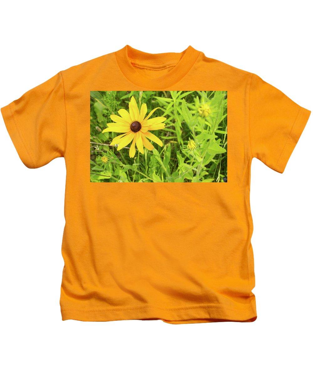 Rudbeckia Hirta Kids T-Shirt featuring the photograph Black Eyed Susan Iv by Lori Lynn Sadelack