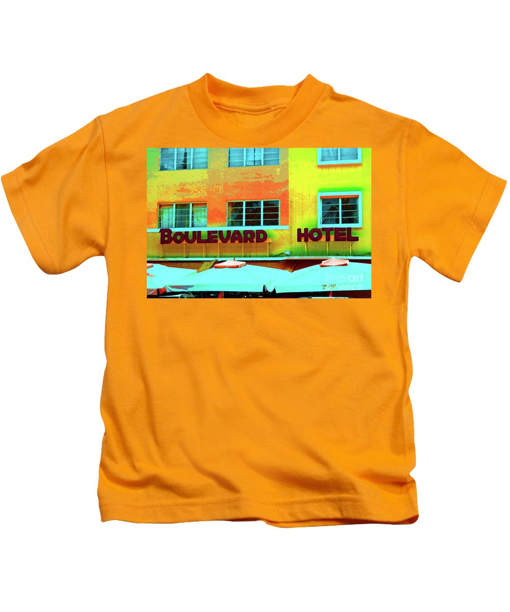 Miami Kids T-Shirt featuring the photograph Boulevard by Jost Houk