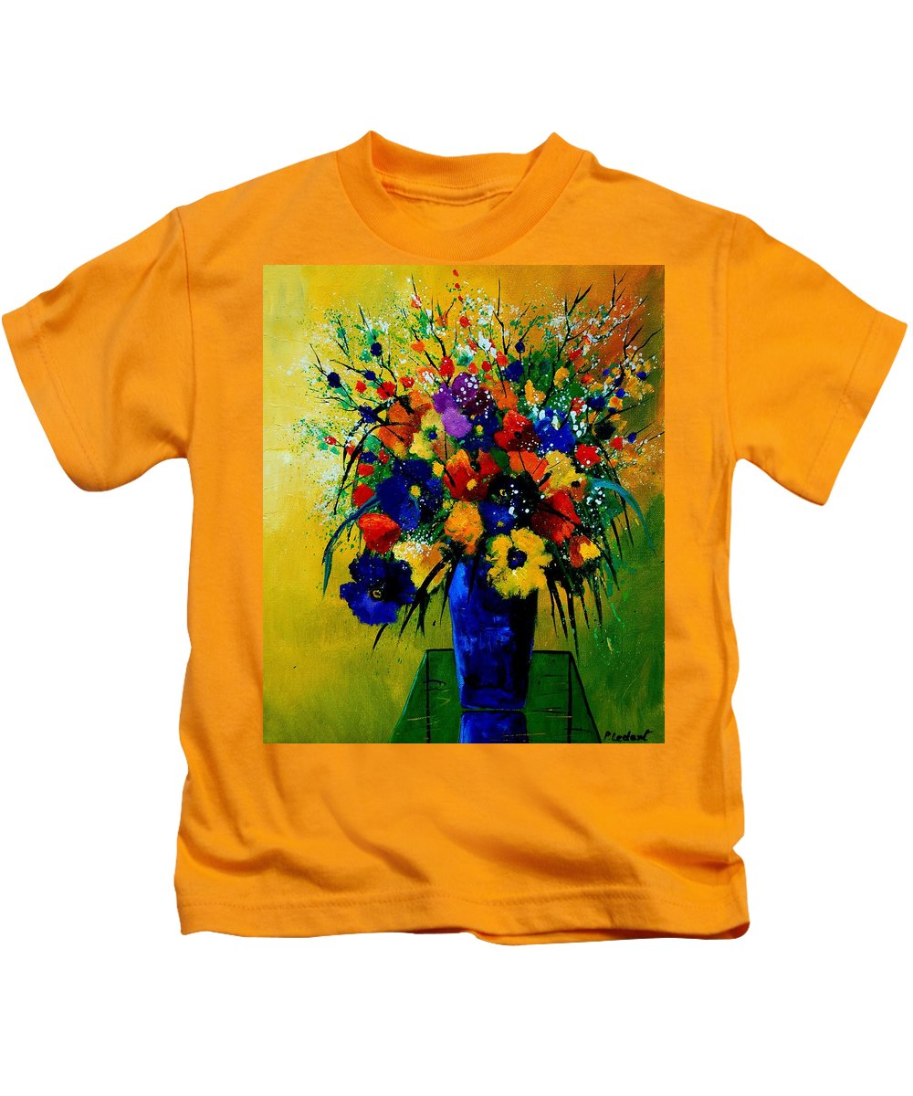Poppies Kids T-Shirt featuring the painting Bunch 0508 by Pol Ledent