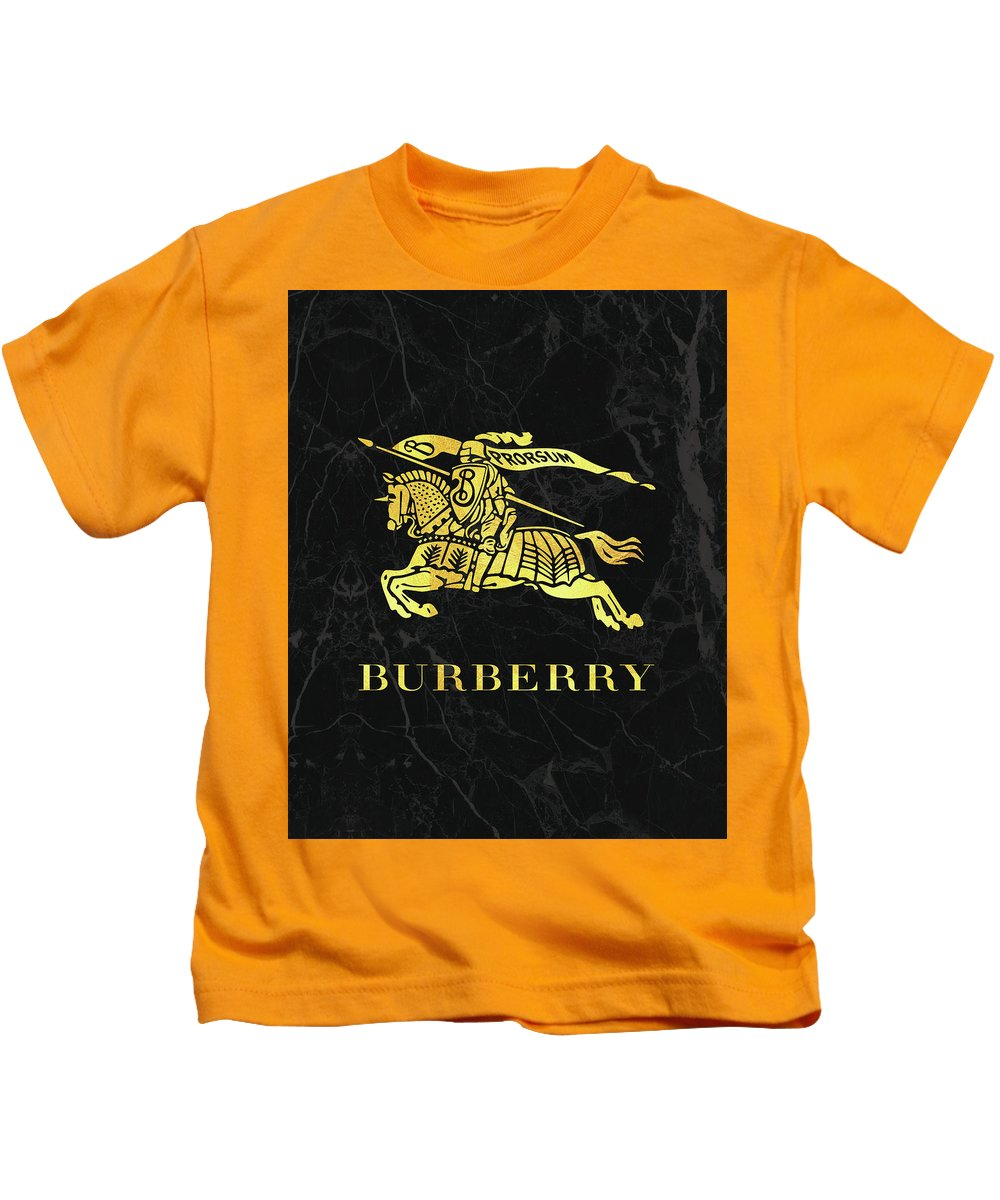 f7be1d67cc63 Burberry Kids T-Shirt featuring the digital art Burberry - Black And Gold -  Lifestyle