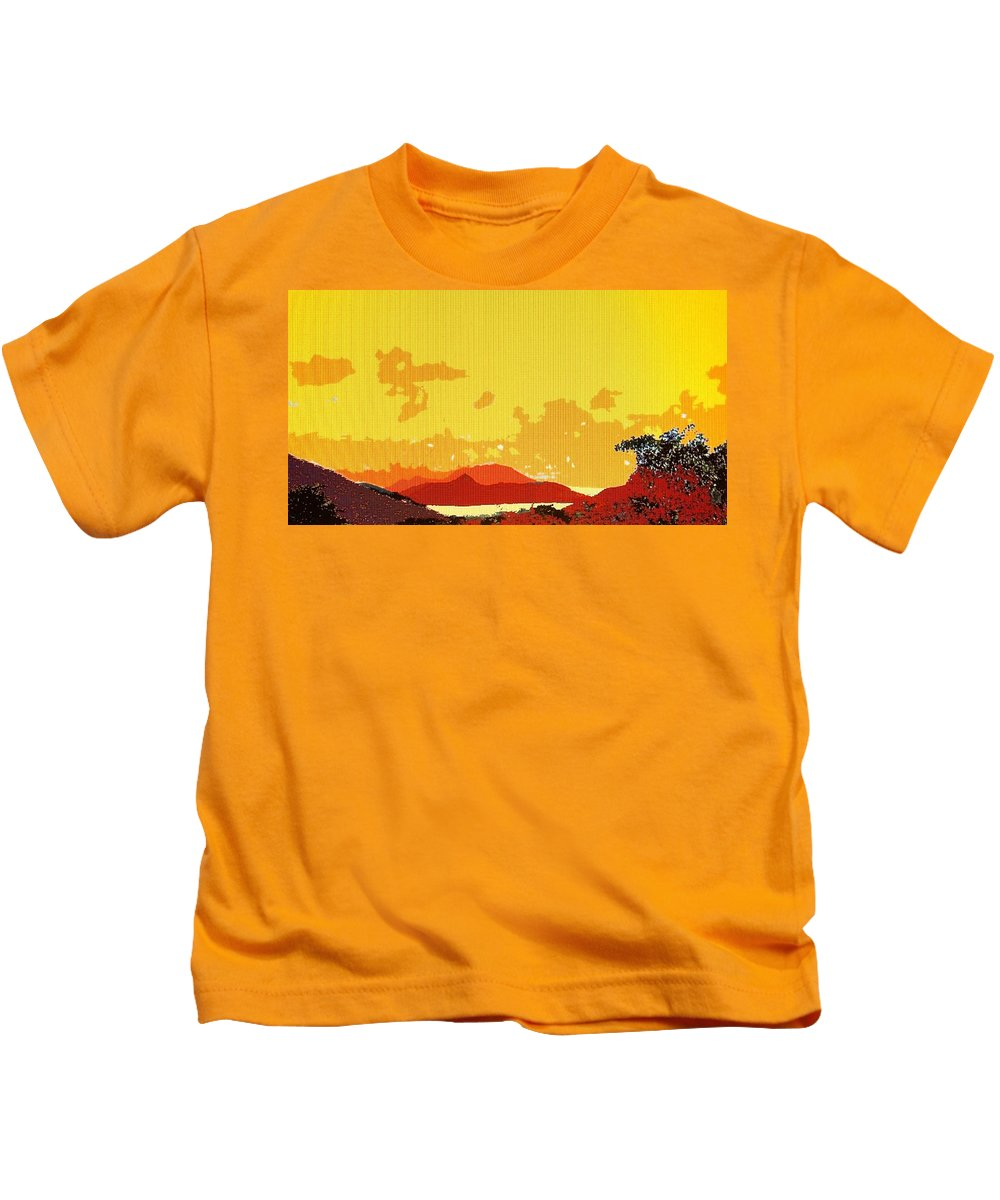 Caribbean Kids T-Shirt featuring the photograph Caribbean Sky by Ian MacDonald