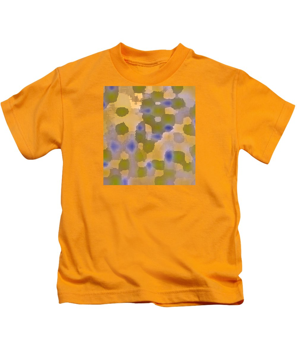 Original Abstract Art Painting Kids T-Shirt featuring the painting Chartreuse Two By Rjfxx. Original Abstract Art Painting. by RjFxx at beautifullart com