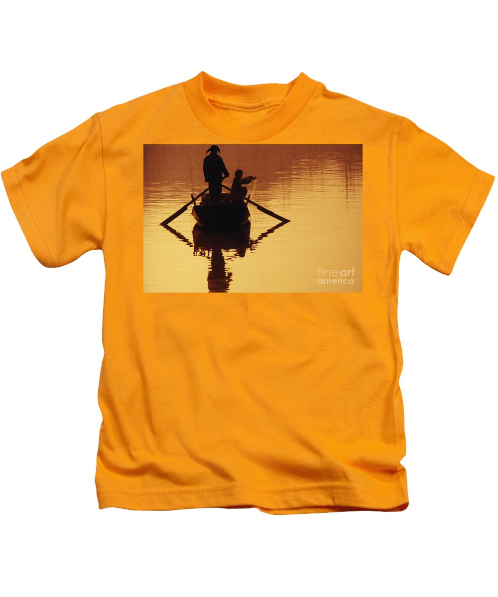 Asian Kids T-Shirt featuring the photograph China, Tianjin by Larry Dale Gordon - Printscapes
