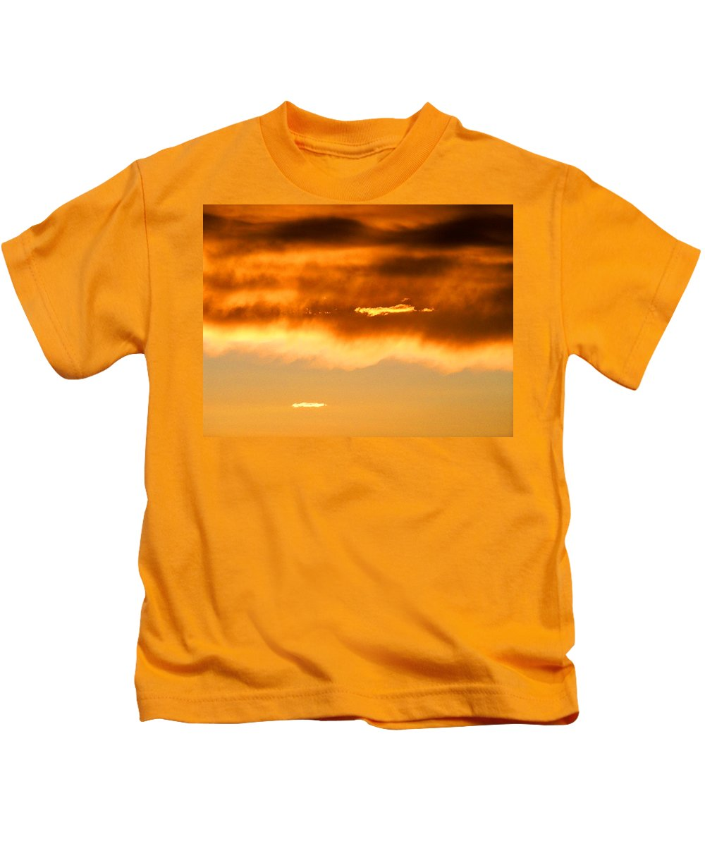 Sunset Kids T-Shirt featuring the photograph Clouds At Sunset by Brian Commerford