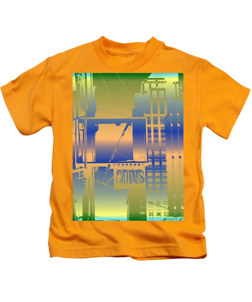 Seattle Kids T-Shirt featuring the digital art Coins by Tim Allen