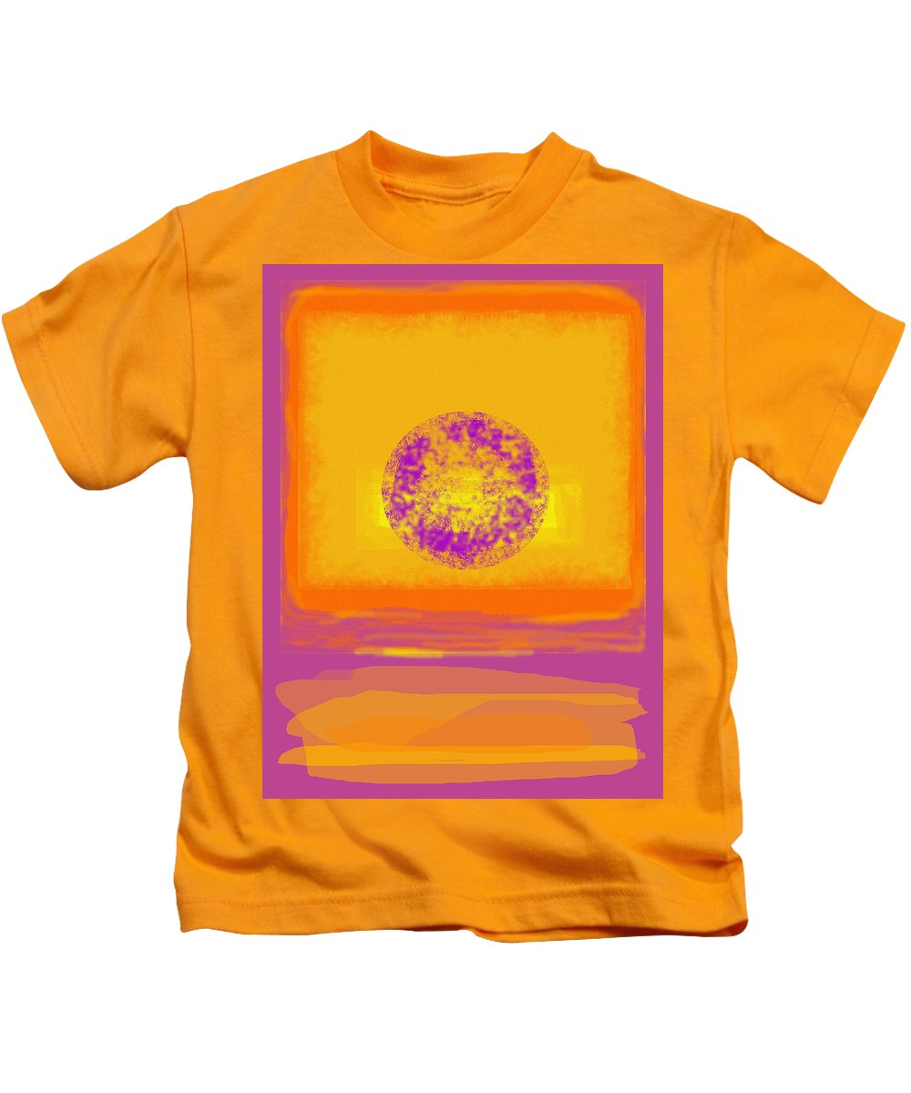 Colorfield Kids T-Shirt featuring the digital art Color Field Sunset 1 by Anne Cameron Cutri