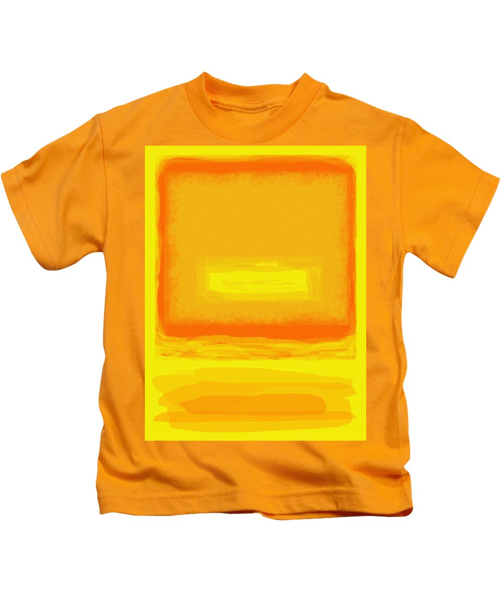 Color Field Kids T-Shirt featuring the painting Color Field Sunset Yellow by Anne Cameron Cutri