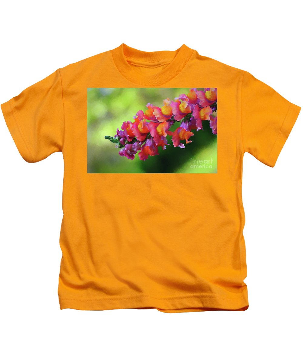 Colorful Snapdragon Kids T-Shirt featuring the photograph Colorful Snapdragon by Kaye Menner