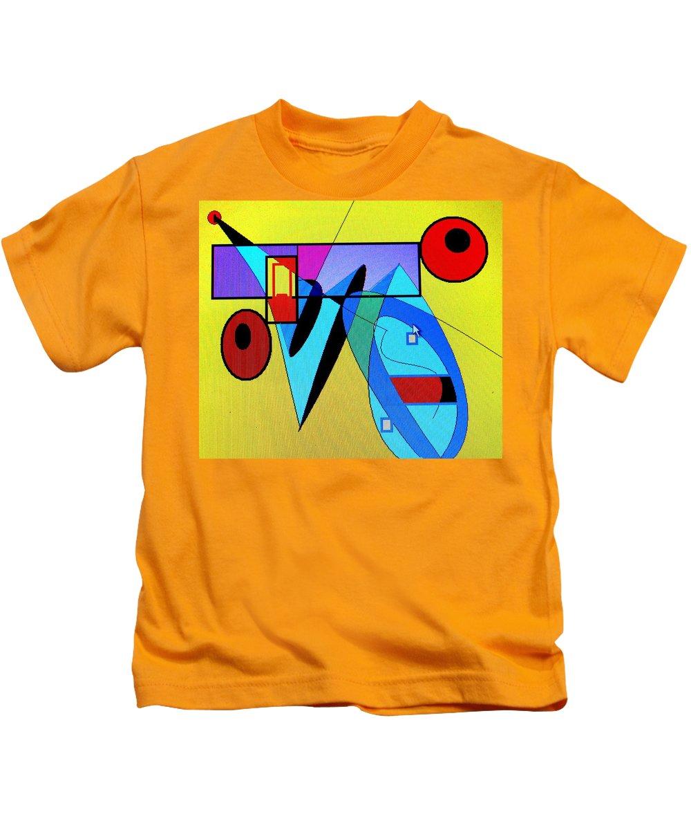 Horn Kids T-Shirt featuring the digital art Come Blow Your Horn by Ian MacDonald