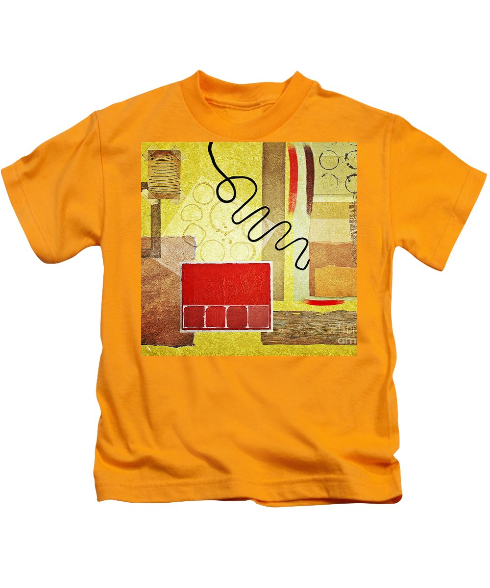 Abstract Kids T-Shirt featuring the digital art Compo 2 by Binka Kirova