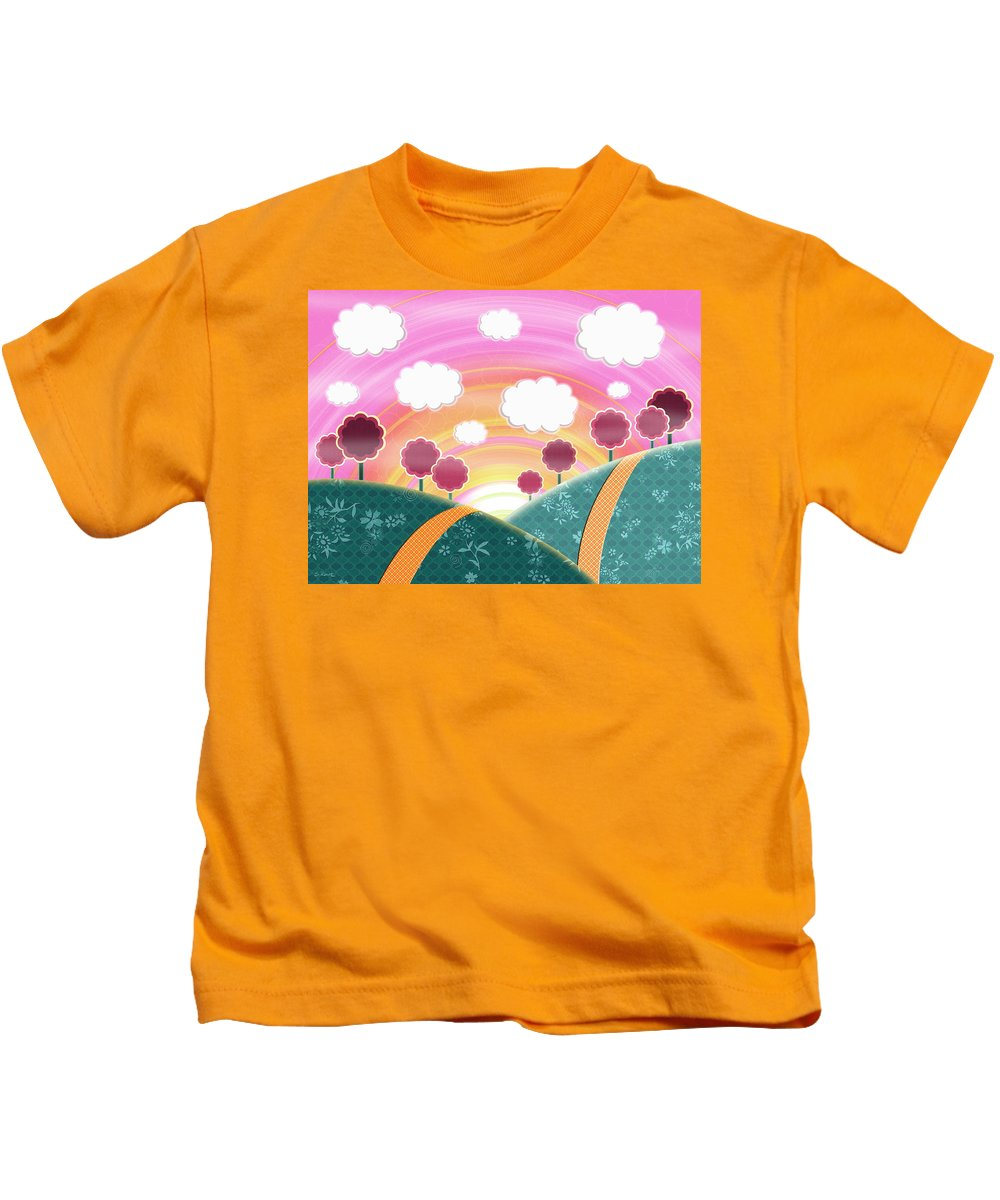 Happy Landscape Kids T-Shirt featuring the digital art Cuteness Overload by Shawna Rowe