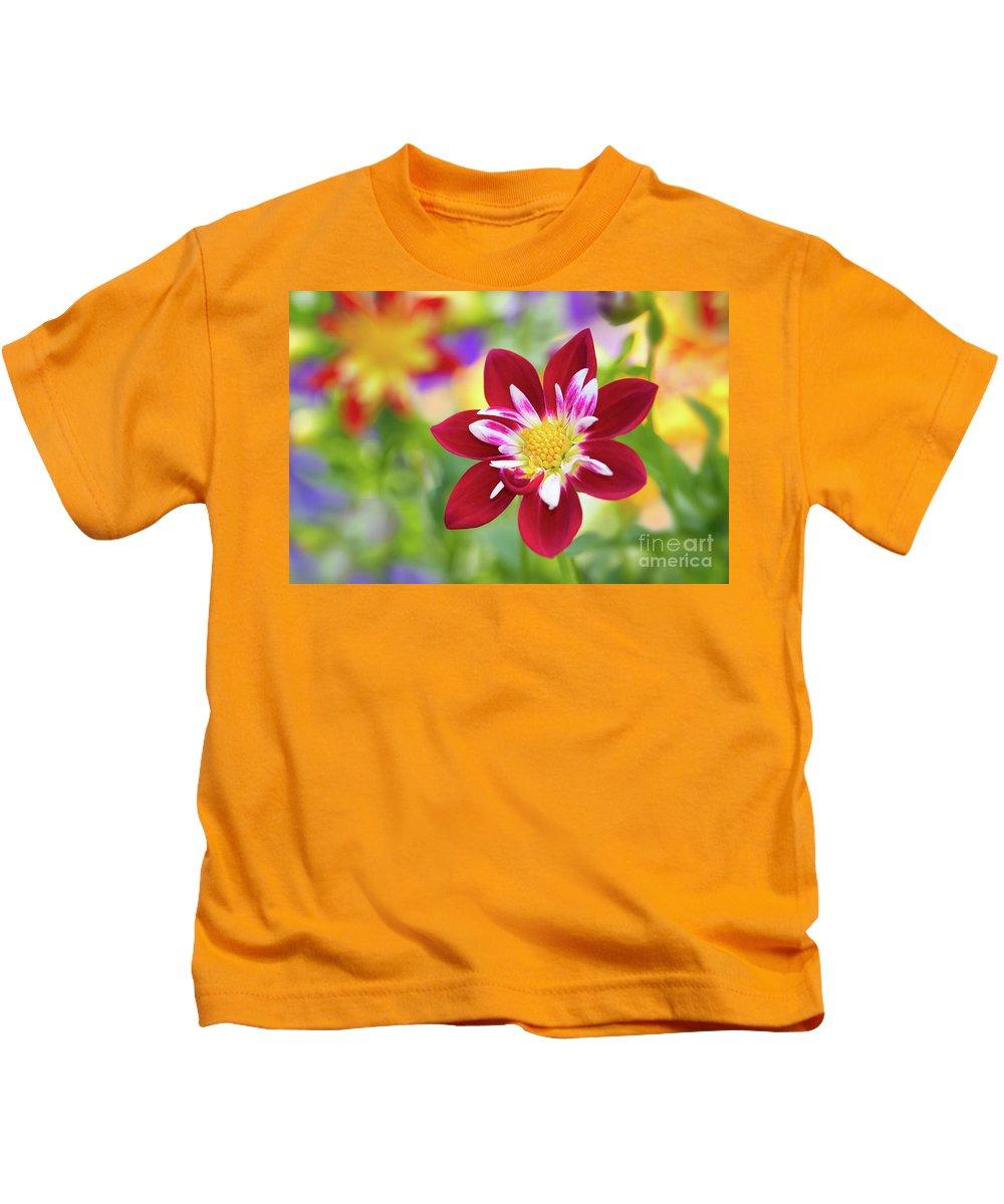 Dahlia Kids T-Shirt featuring the photograph Dahlia by Mimi Ditchie