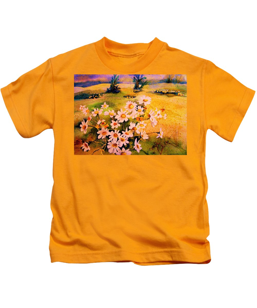 Daisies Kids T-Shirt featuring the painting Daisies In The Sun by Carole Spandau
