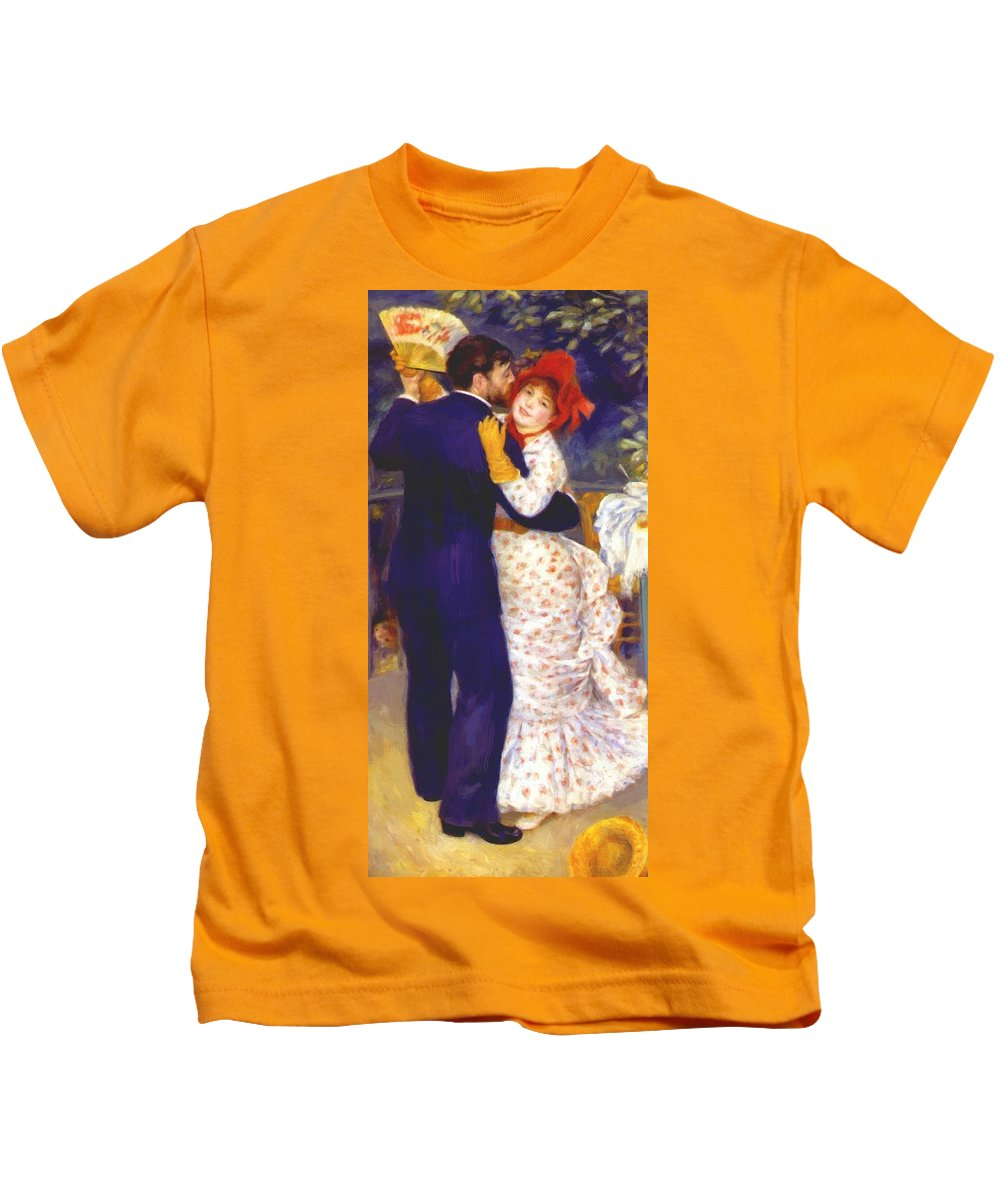 Dance Kids T-Shirt featuring the painting Dance In The Country 1883 1 by Renoir PierreAuguste