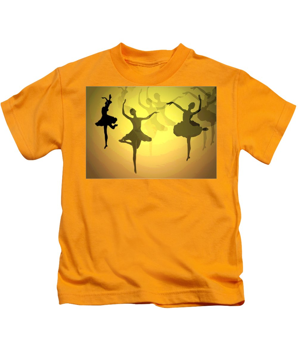 Ballerina Kids T-Shirt featuring the photograph Dance With Us Into The Light by Joyce Dickens