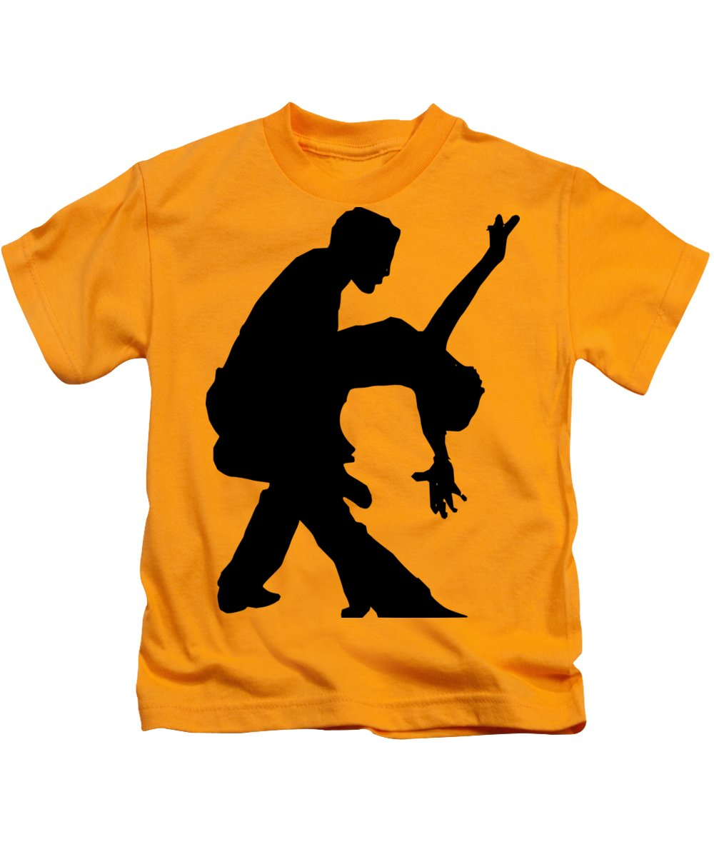 Animal Kids T-Shirt featuring the digital art Dancers by Frederick Holiday