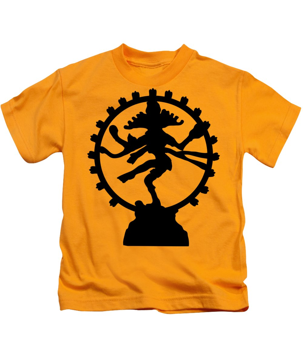 Witchcraft Kids T-Shirt featuring the digital art Dancing Shiva by Frederick Holiday