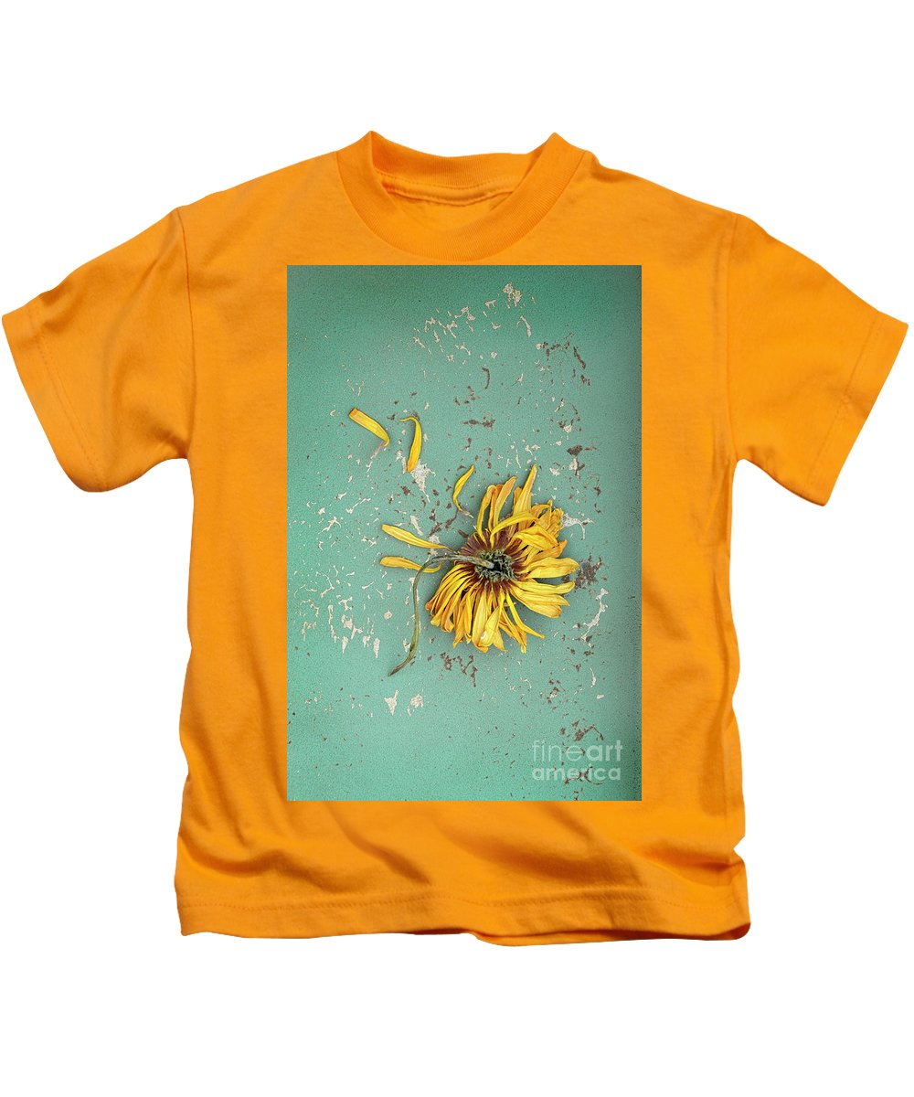 Flower Kids T-Shirt featuring the photograph Dead Suflower by Jill Battaglia