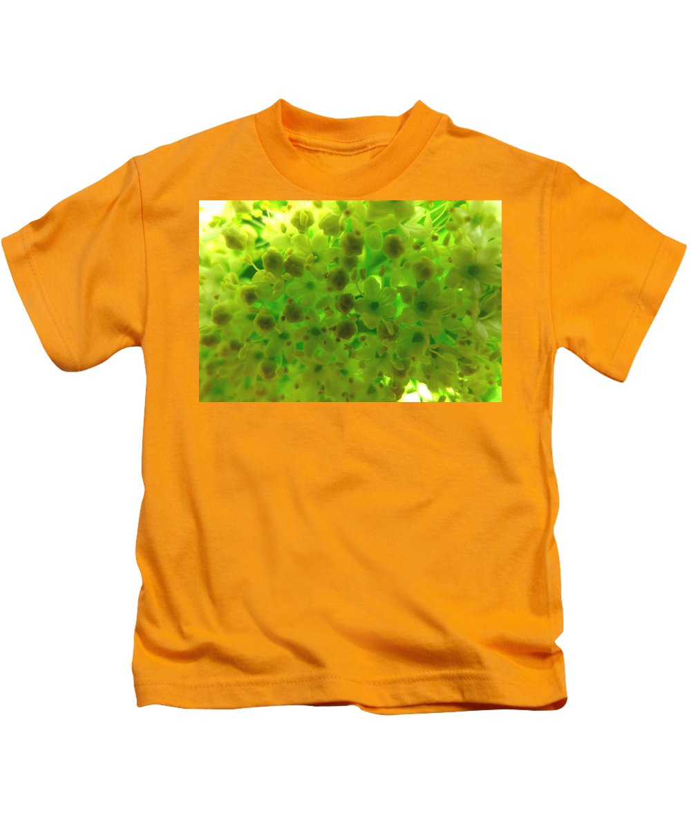 Regina Donetskaya Kids T-Shirt featuring the photograph Delicate Picture As A Pattern For Fabric by Regina Donetskaya