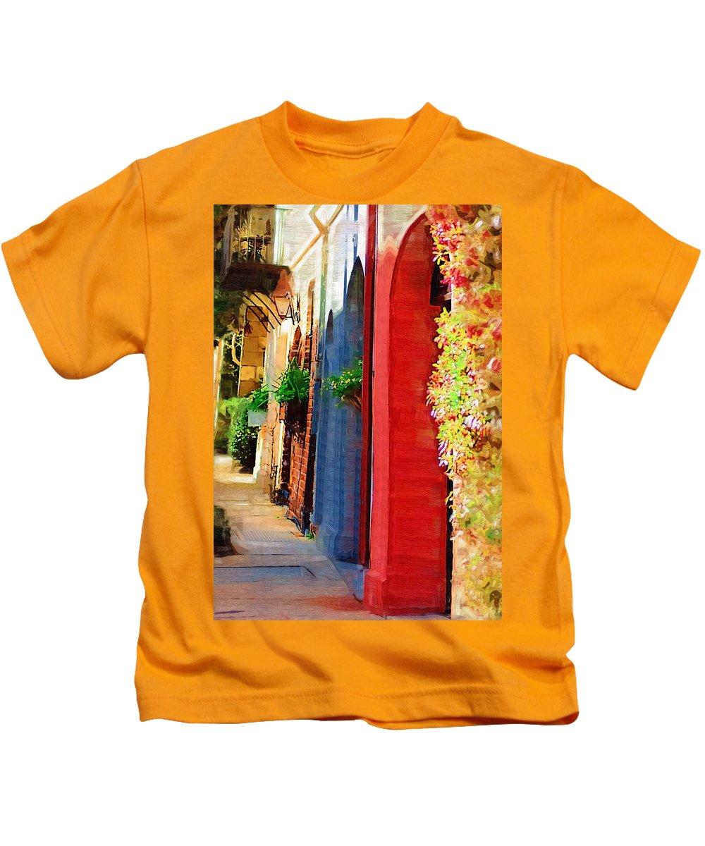 Door Kids T-Shirt featuring the photograph Doorways On Queen Street by Donna Bentley