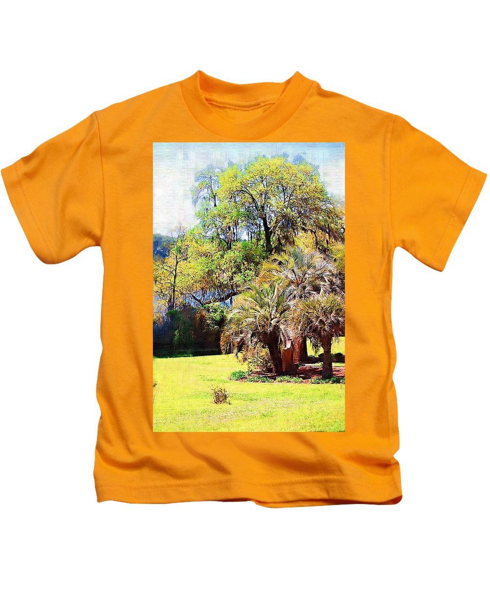 Landscape Kids T-Shirt featuring the photograph Down By The Riverside by Donna Bentley