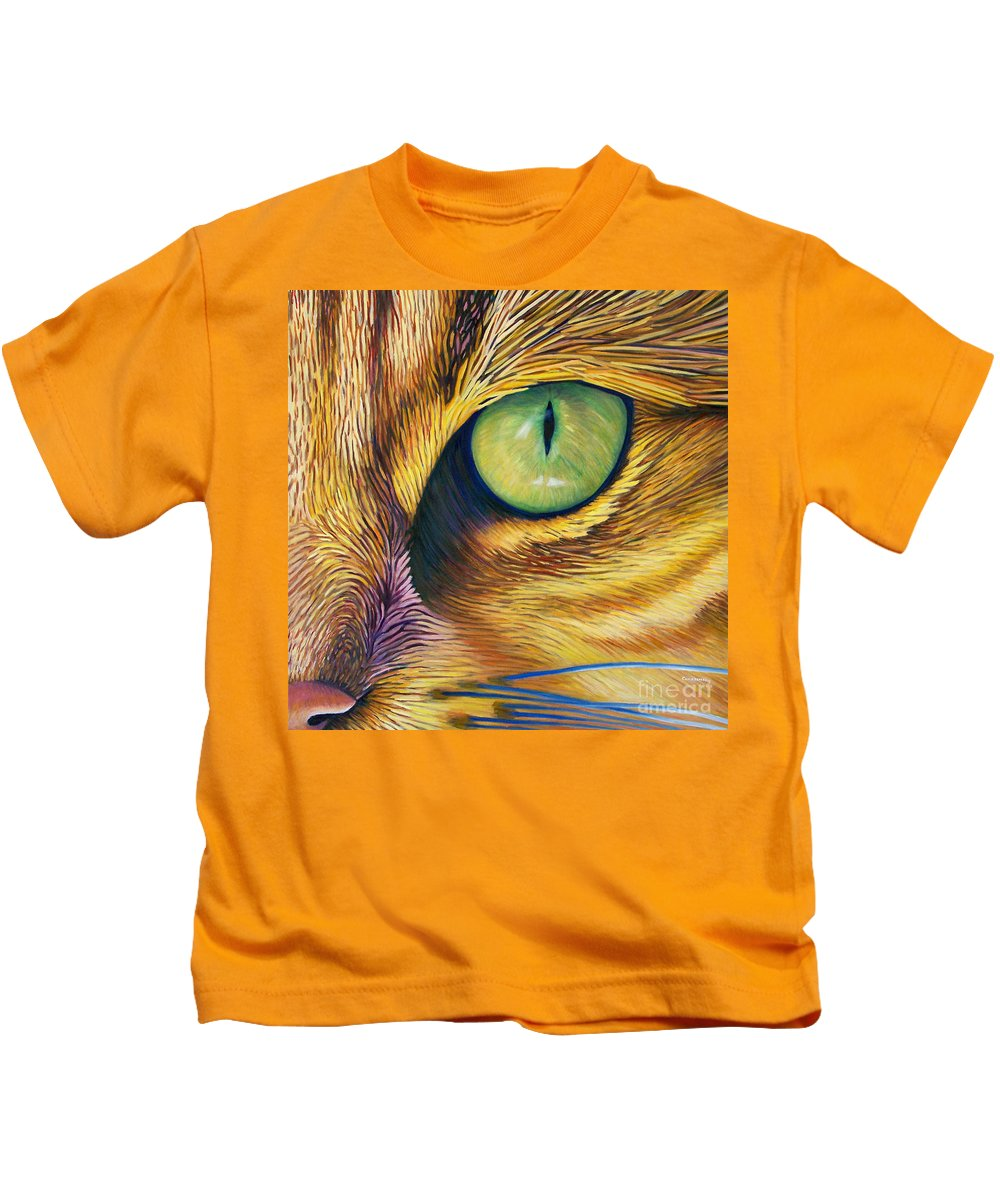 Cat Kids T-Shirt featuring the painting El Gato by Brian Commerford