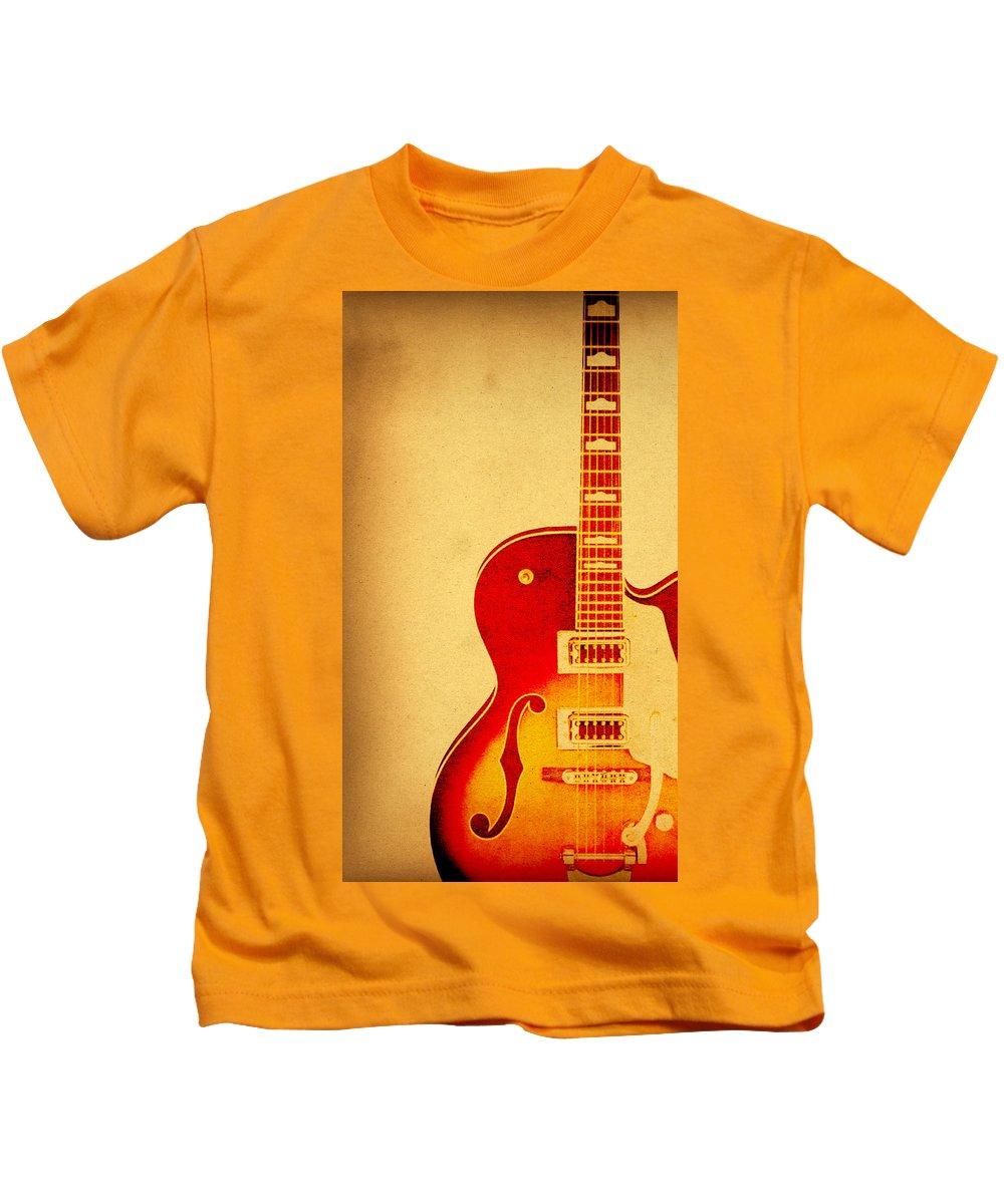 Guitar Kids T-Shirt featuring the photograph Electric Grunge by Steve McKinzie
