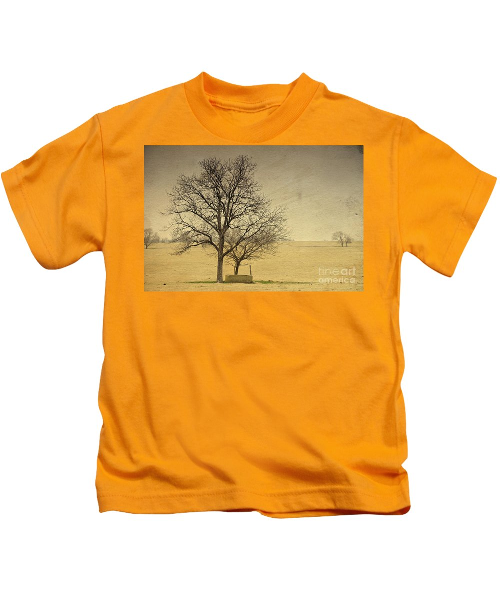 Cement Kids T-Shirt featuring the photograph F O U N D A T I O N S by Charles Dobbs