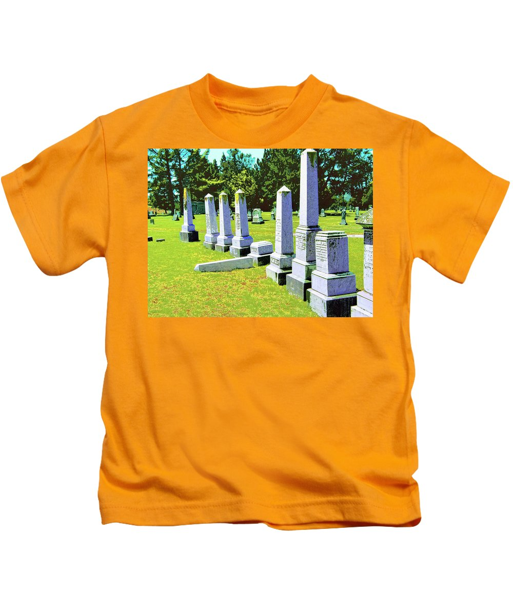 Fallen Kids T-Shirt featuring the mixed media Fallen by Dominic Piperata