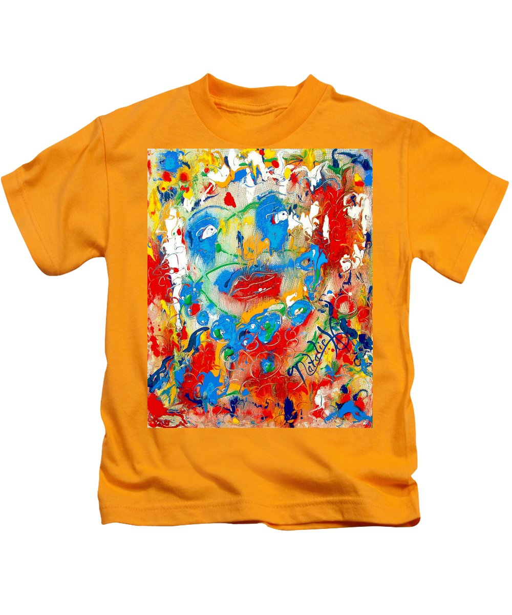 Woman Kids T-Shirt featuring the painting Fantasia by Natalie Holland