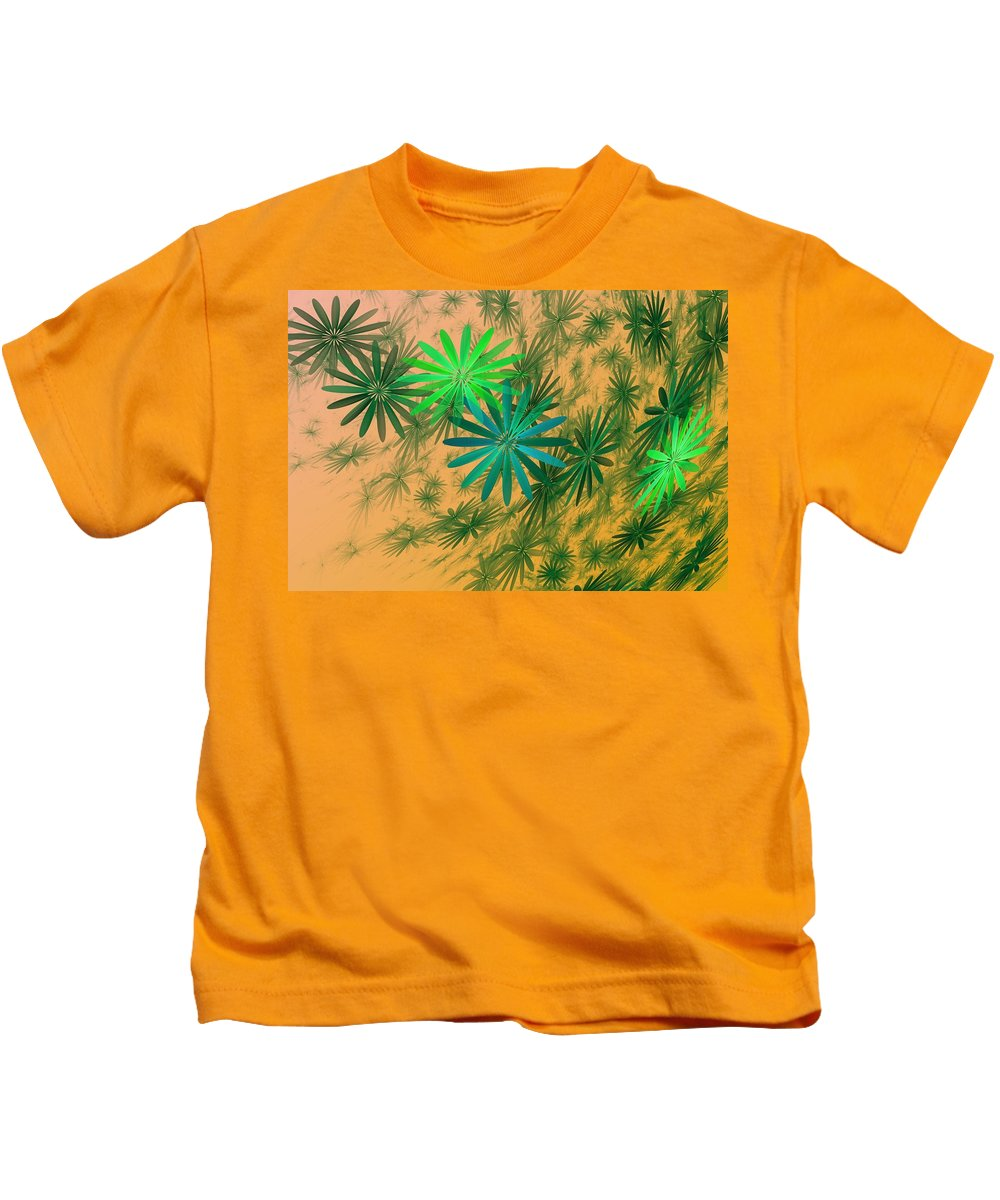 Kids T-Shirt featuring the digital art Floating Floral - 004 by David Lane