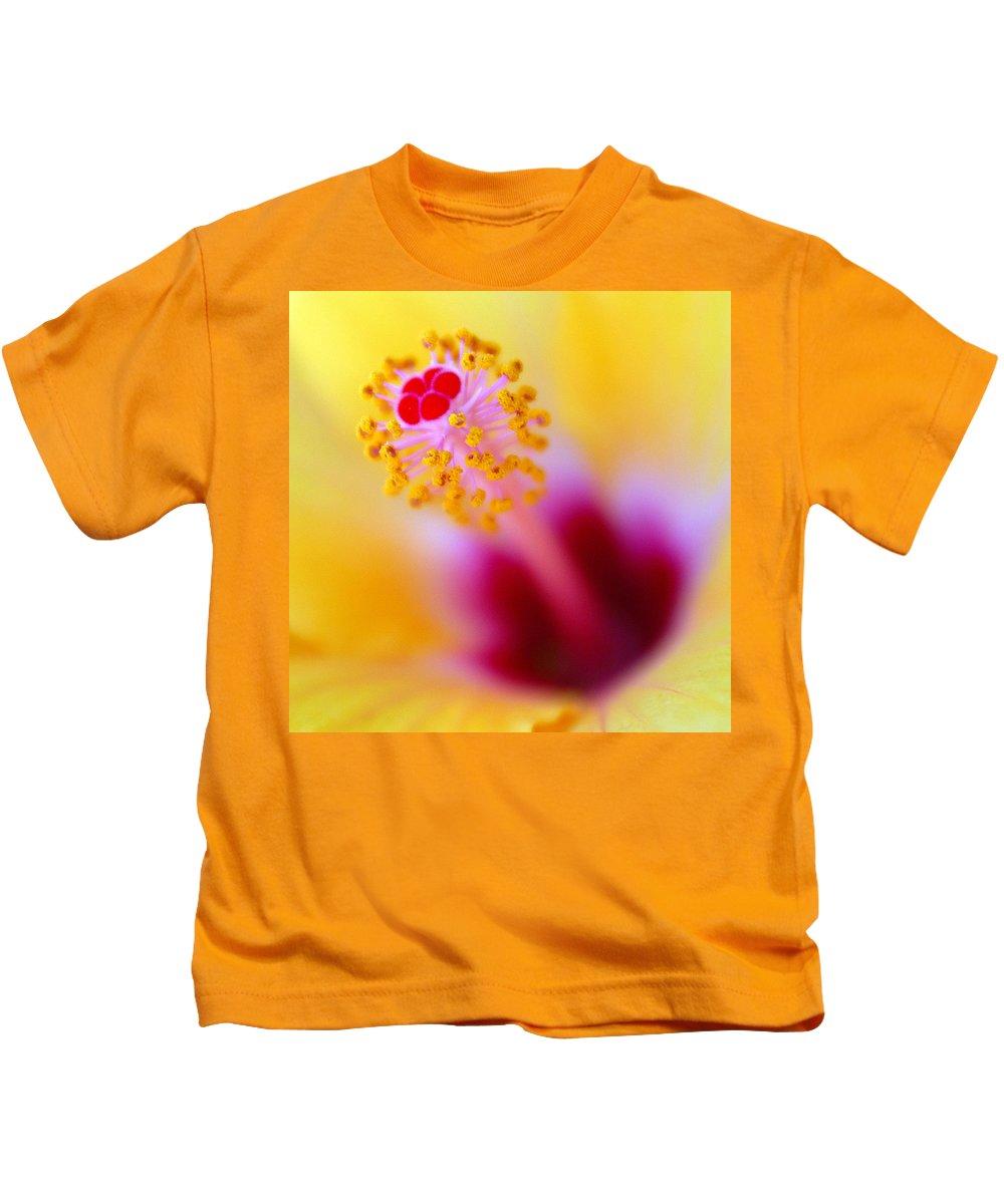 Flower Kids T-Shirt featuring the photograph Flower - Stamen 2 by Jill Reger