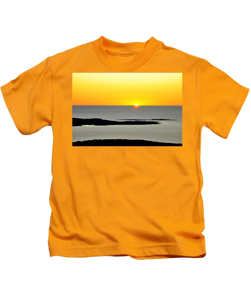 Frenchman's Bay Kids T-Shirt featuring the photograph Frenchman's Bay by Scott Coleman