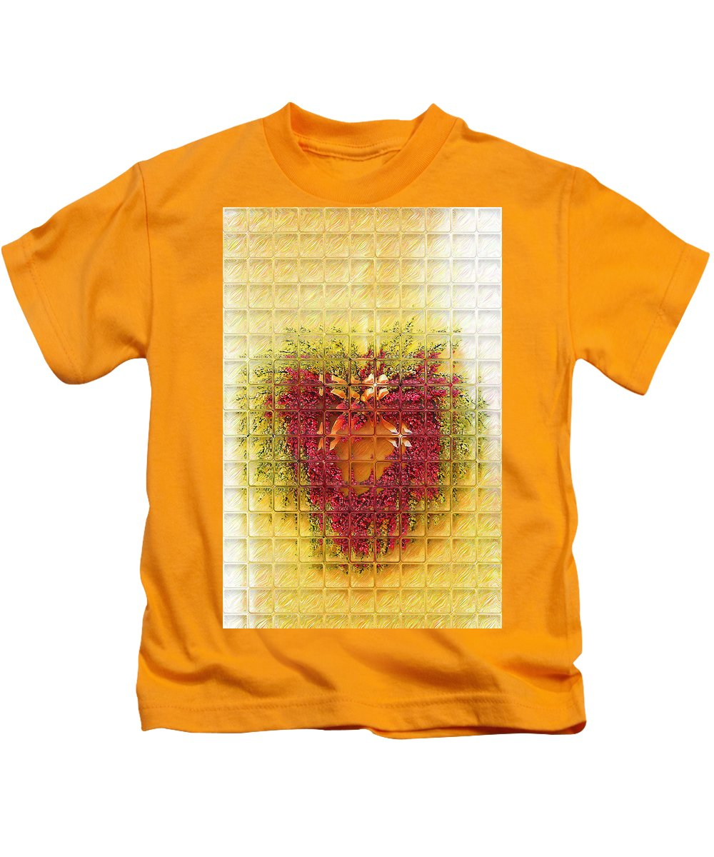 Heart Kids T-Shirt featuring the photograph Gentle Glass Heart by Donna Bentley