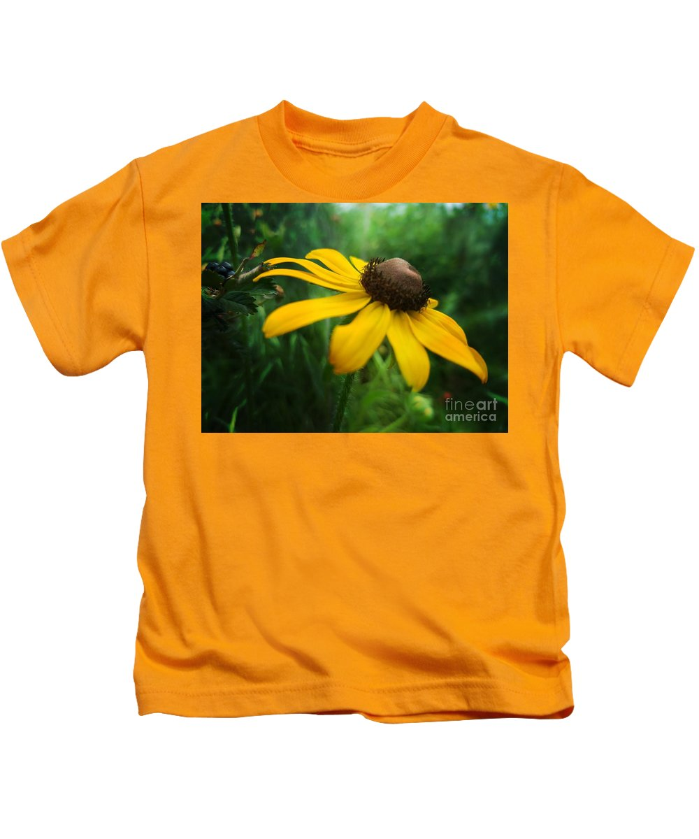 Golden Sway Kids T-Shirt featuring the photograph Golden Sway by Maria Urso