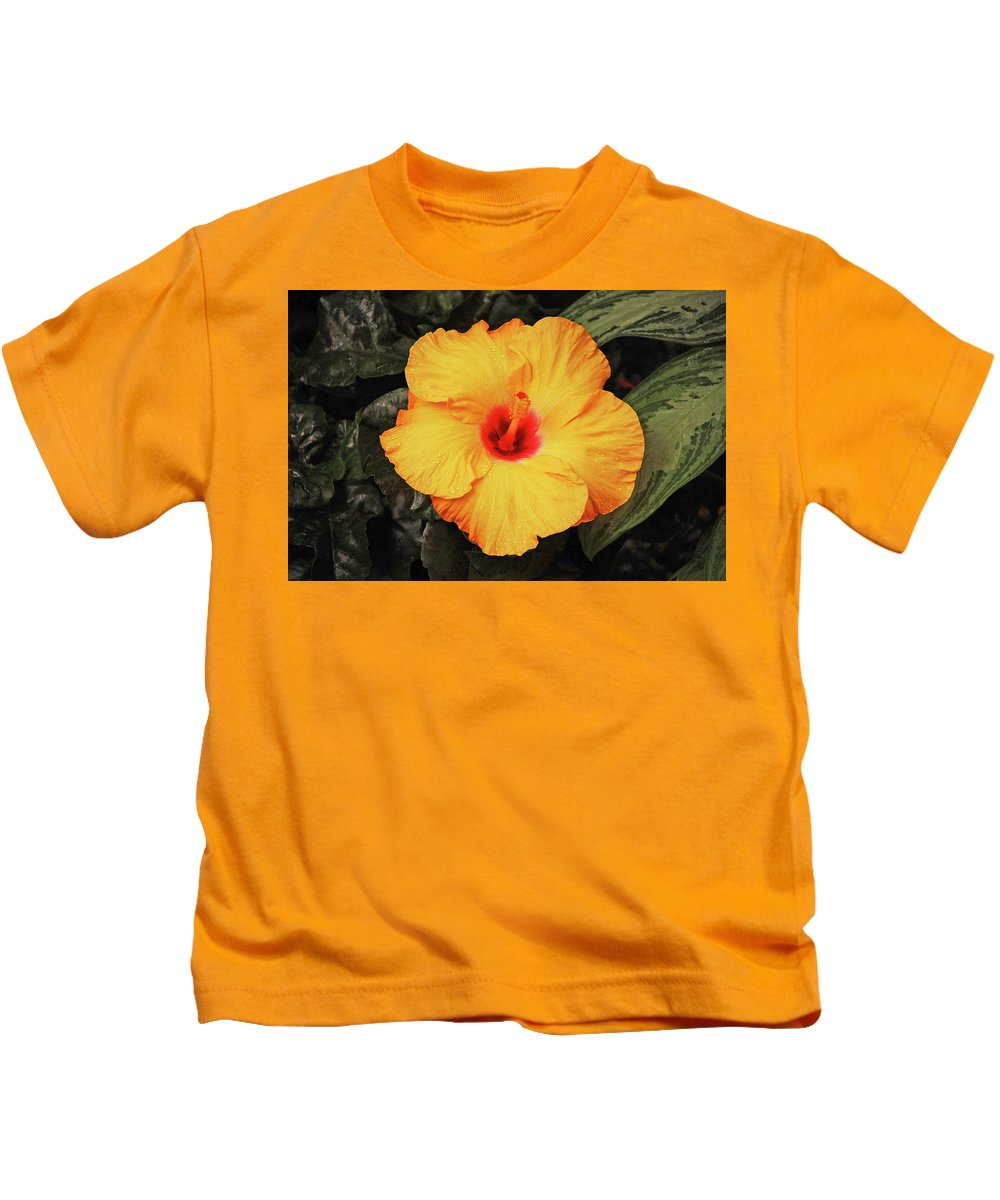 Hibiscus Kids T-Shirt featuring the photograph Hibiscus Flower by Perl Photography