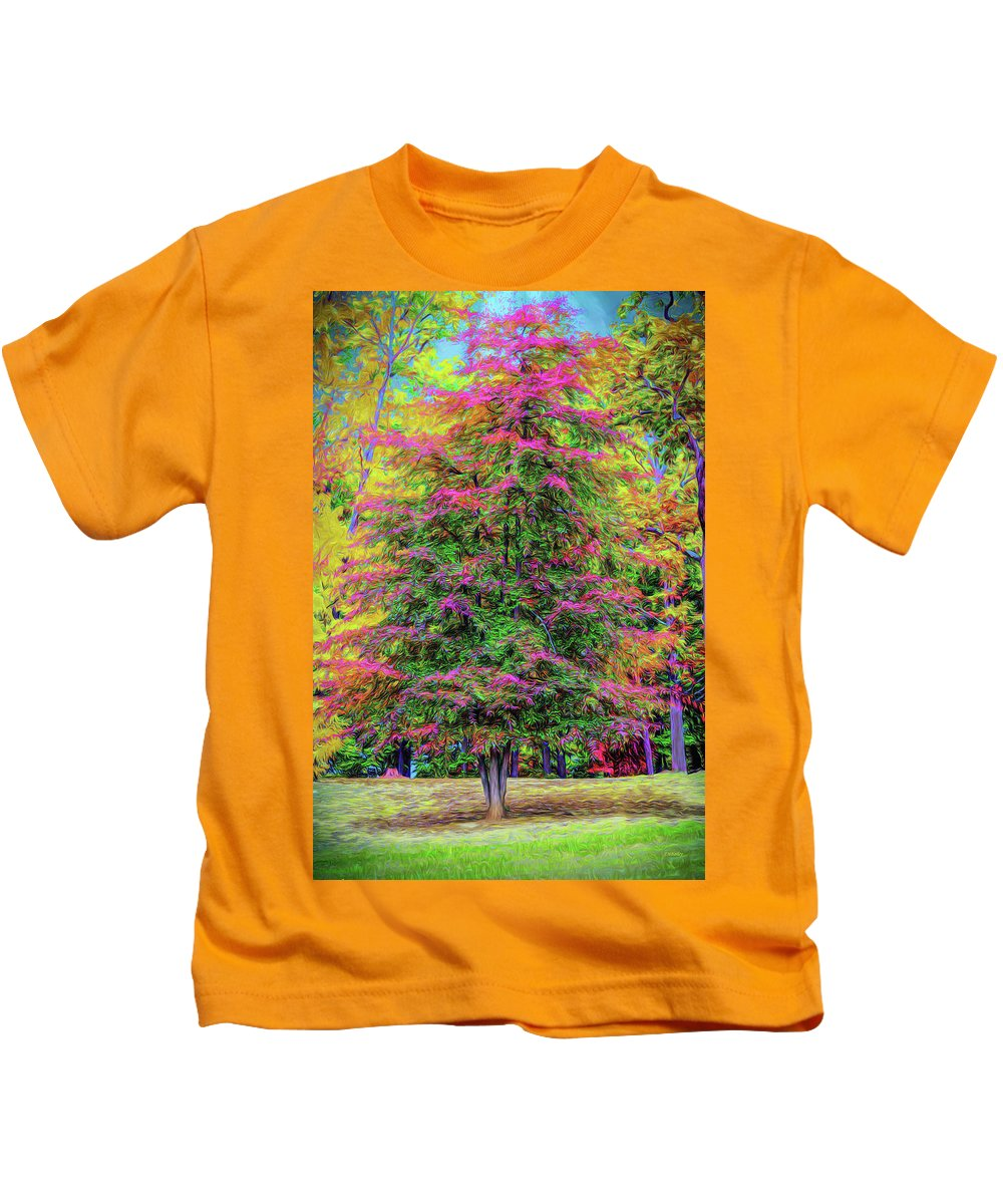 Landscape Kids T-Shirt featuring the photograph Holly Jolly Tree by John M Bailey