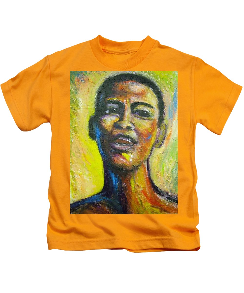 Intensity Kids T-Shirt featuring the painting I by Jan Gilmore