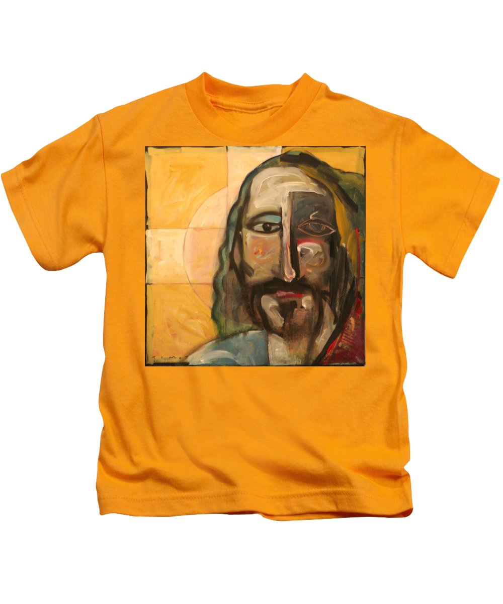 Christ Kids T-Shirt featuring the painting Icon Number Four by Tim Nyberg