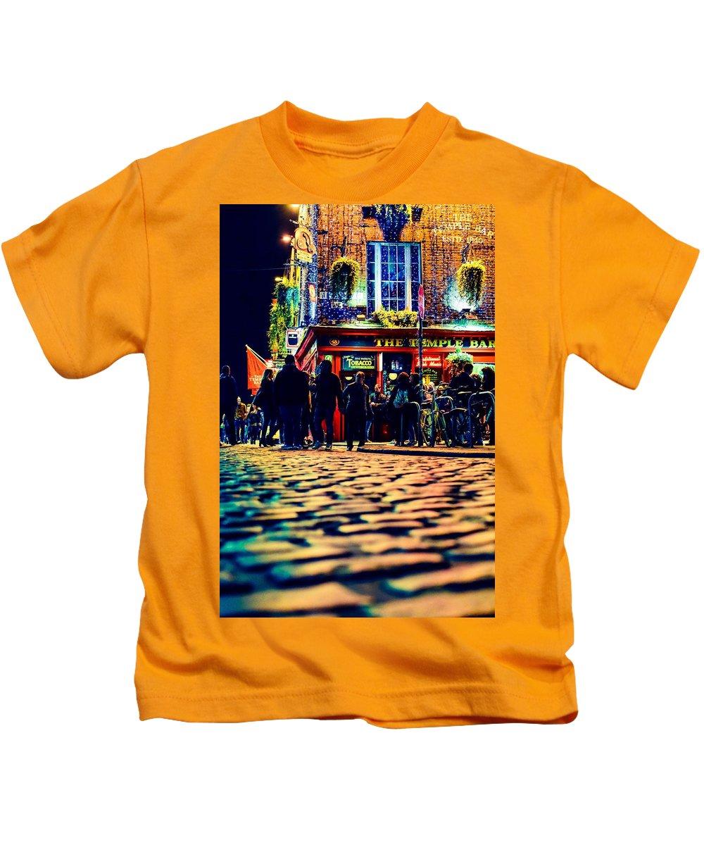 Water Kids T-Shirt featuring the photograph Irish Bar by James Fitzpatrick