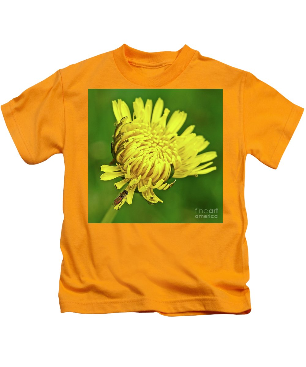 Yellow Kids T-Shirt featuring the photograph Just Dandy by Robin Clifton
