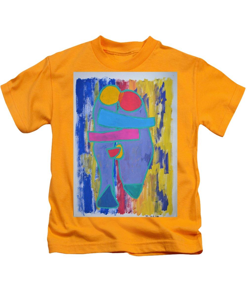 Kids T-Shirt featuring the painting Kaer Iv 2012 by Dan Rasmussen