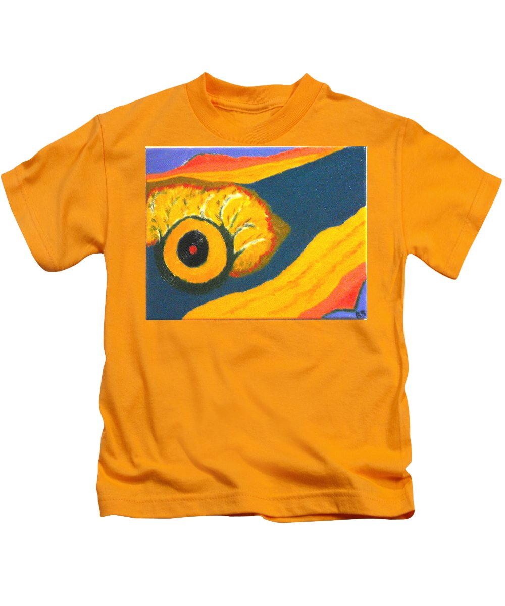 Kids T-Shirt featuring the painting Krshna by R B