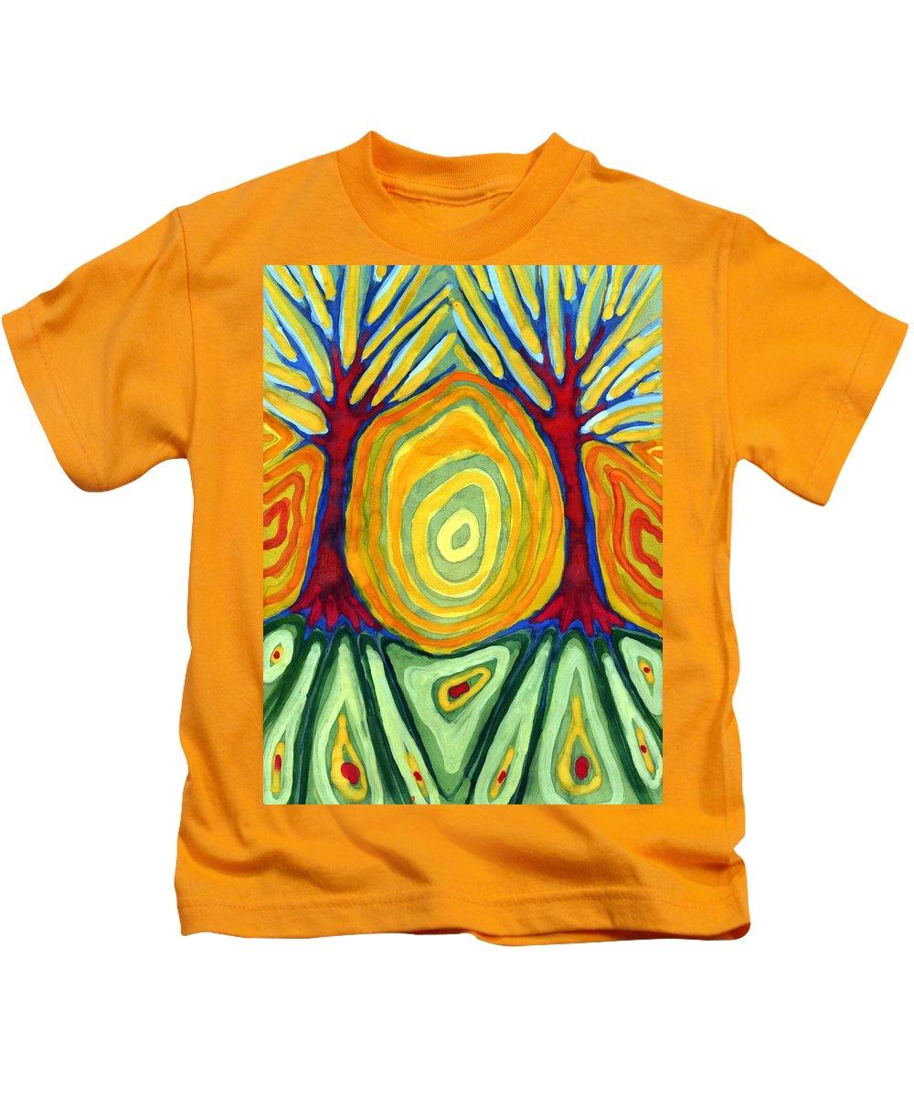 Colour Kids T-Shirt featuring the painting Labyrinth by Wojtek Kowalski
