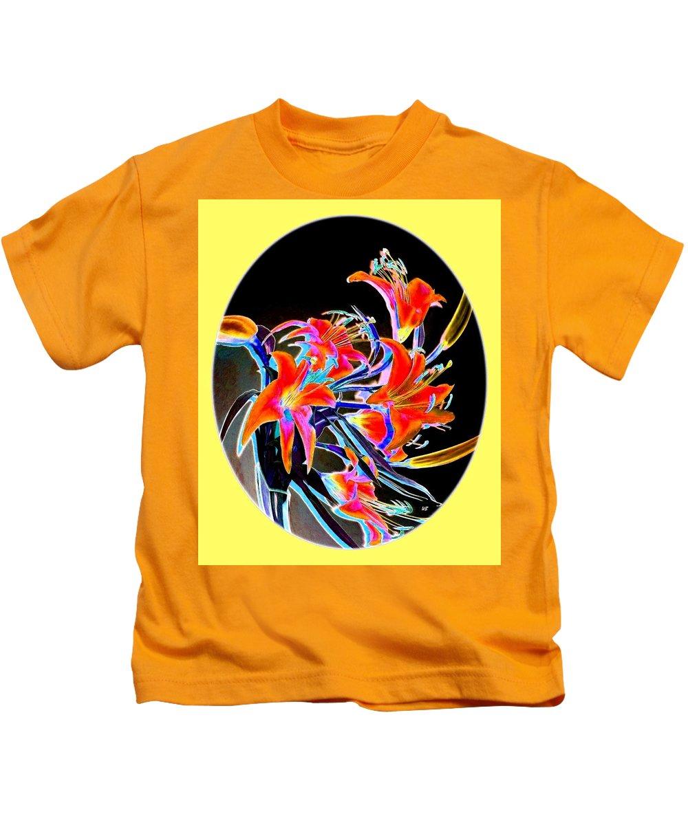 Lilies Kids T-Shirt featuring the digital art Lavish Lilies 2 by Will Borden
